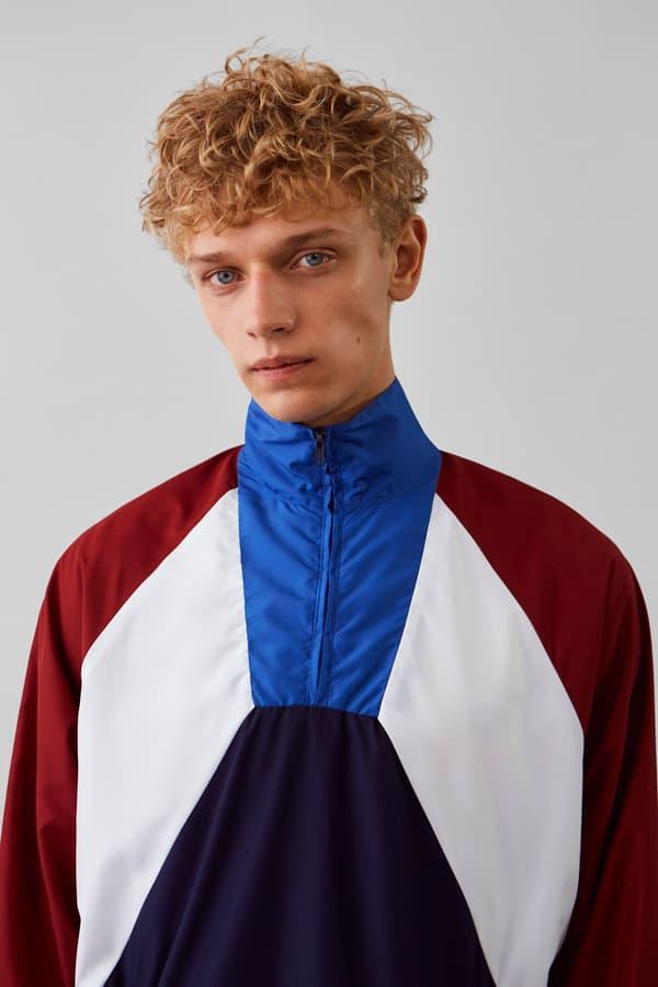 Wood Wood Spring Summer 2019 Lookbook Jacket Maroon White Blue