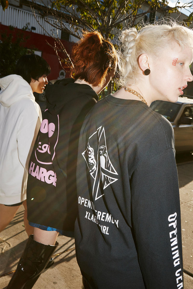 x-girl xlarge opening ceremony chinese new years collaboration puffer jacket anorak tracksuit