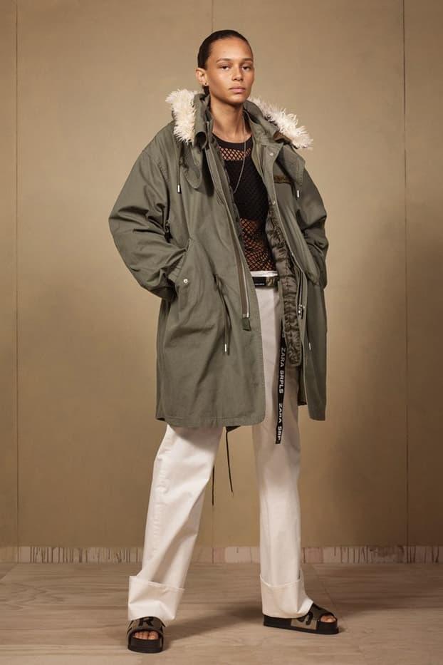 Zara SRPLS 2018 Collection Lookbook Jacket Green Pants Khaki