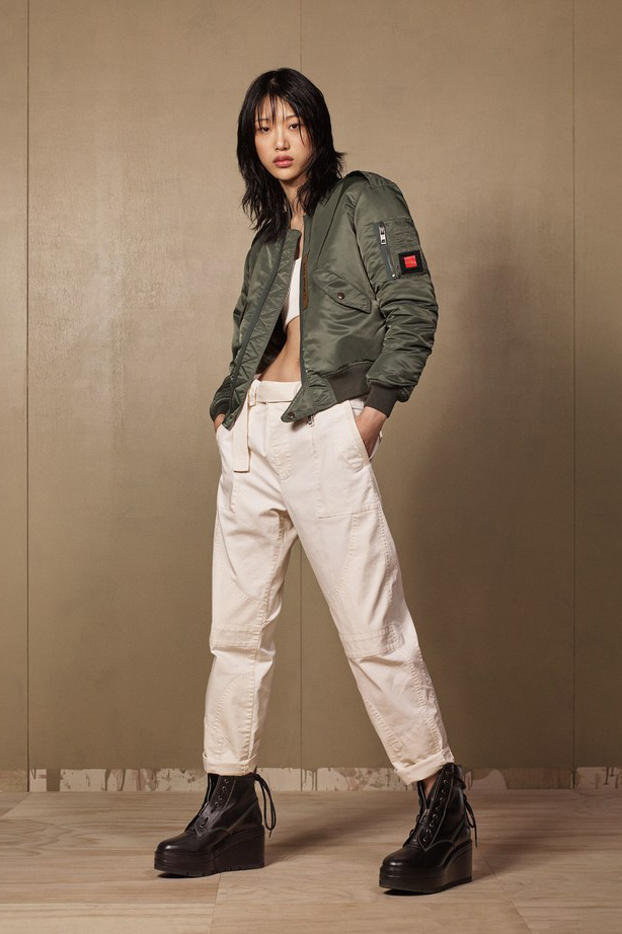 Zara SRPLS 2018 Collection Lookbook Jacket Green Pants Tan