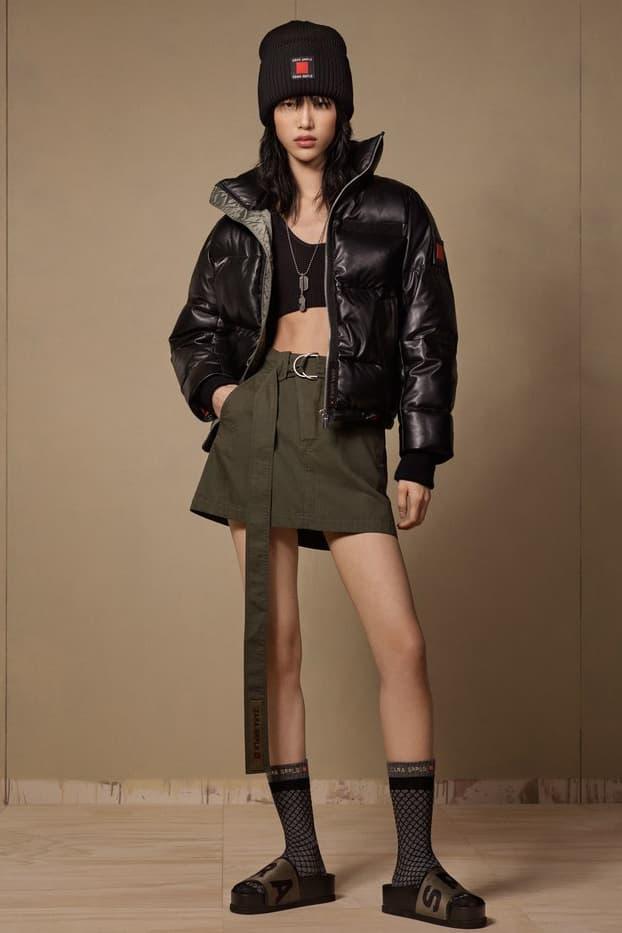 Zara SRPLS 2018 Collection Lookbook Jacket Black Skirt Green