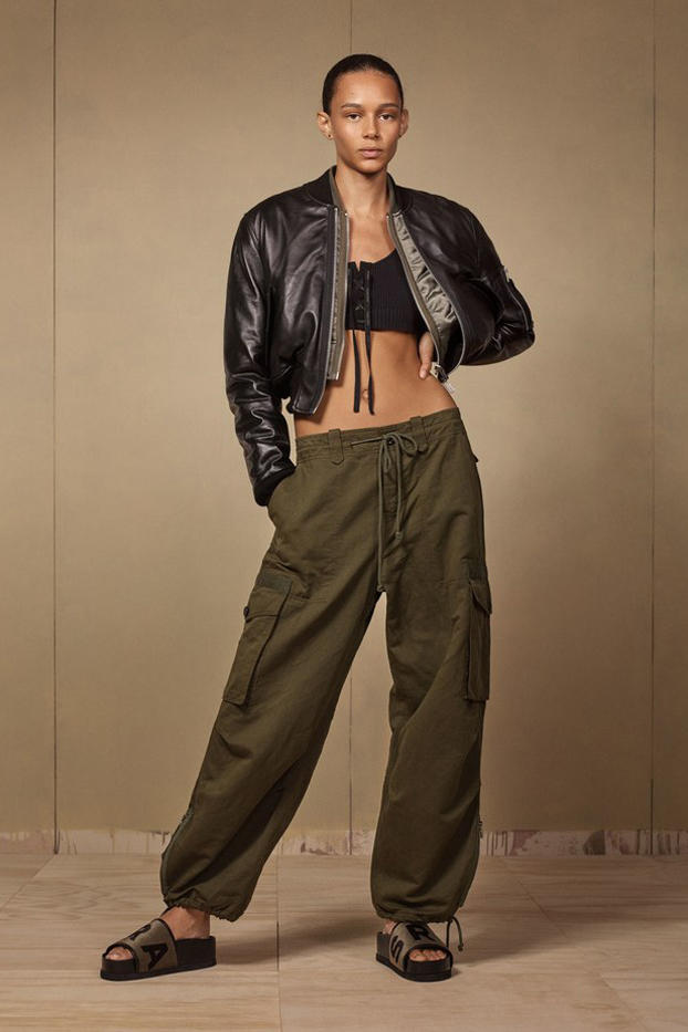 Zara SRPLS 2018 Collection Lookbook Jacket Black Pants Green