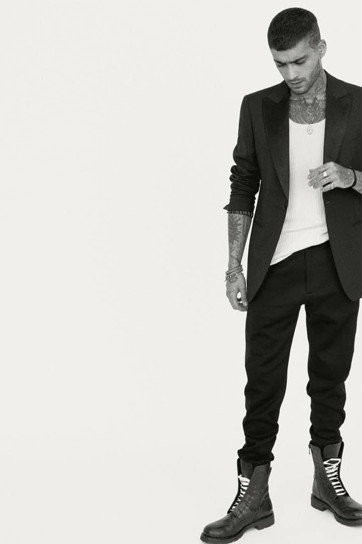 Zayn British Vogue December 2018 Digital Cover Feature Blazer Pants Black Shirt White