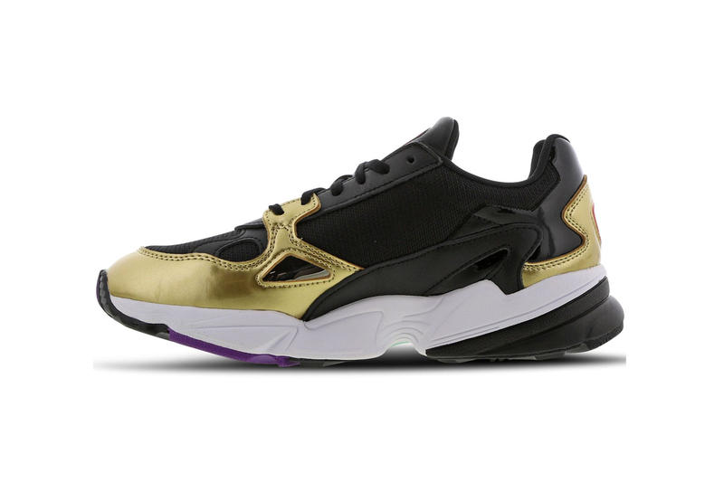 adidas Originals Falcon Core Black Gold Metallic