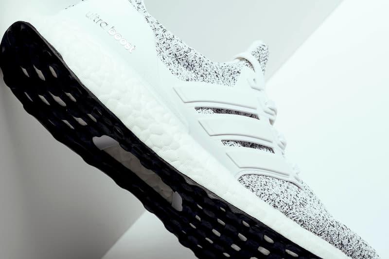 adidas ultraboost 4.0 white non dye primeknit upper running shoe sneaker