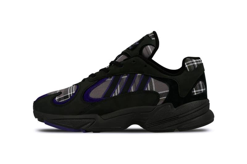 adidas Yung-1 Plaid Pack Release Information Sneaker Black Grey White Orange Pattern