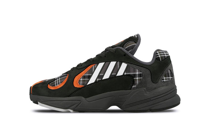 cf88b676aa2 adidas Yung-1 Plaid Pack Release Information Sneaker Black Grey White  Orange Pattern