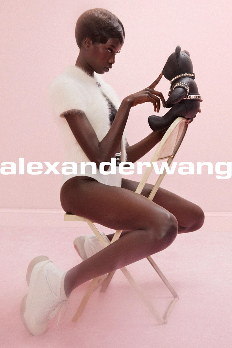 Alexander Wang COLLECTION 1 Drop 2 Angora Championship Cardigan A1 Sneaker White