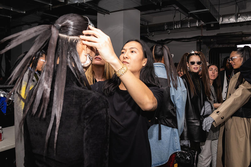 Alexander Wang December 2018 Runway Show Backstage Model