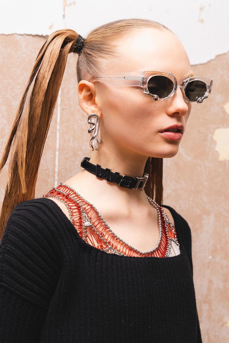 Alexander Wang December 2018 Runway Show Backstage Model Sunglasses Pig Tails