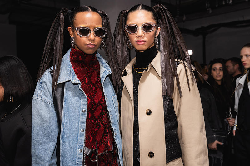 Alexander Wang December 2018 Runway Show Backstage Models Sunglasses