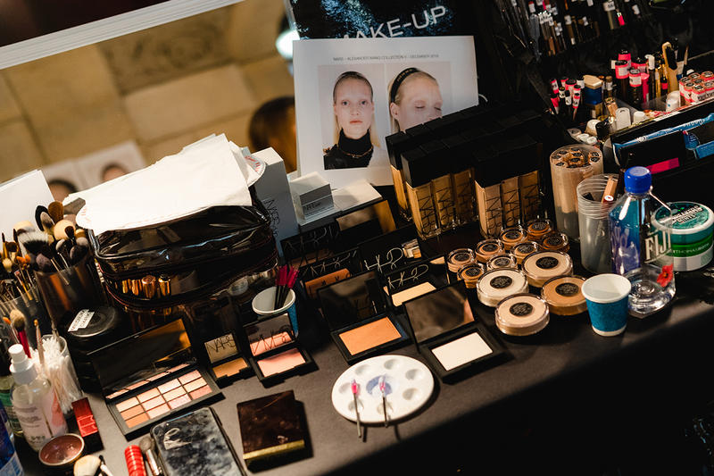 Alexander Wang December 2018 Runway Show Backstage Model Makeup