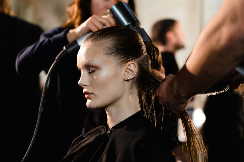 Alexander Wang December 2018 Runway Show Backstage Model Hair Makeup