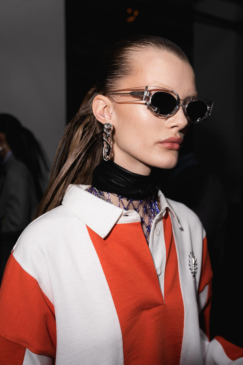 Alexander Wang December 2018 Runway Show Backstage Model Sunglasses