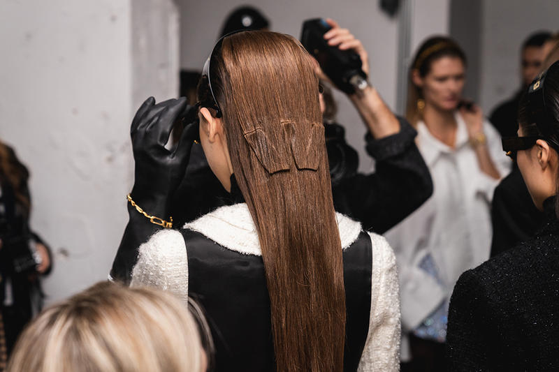 Alexander Wang December 2018 Runway Show Backstage Model hair W