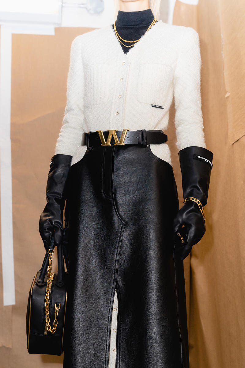 Alexander Wang December 2018 Runway Show Backstage Model W Belt