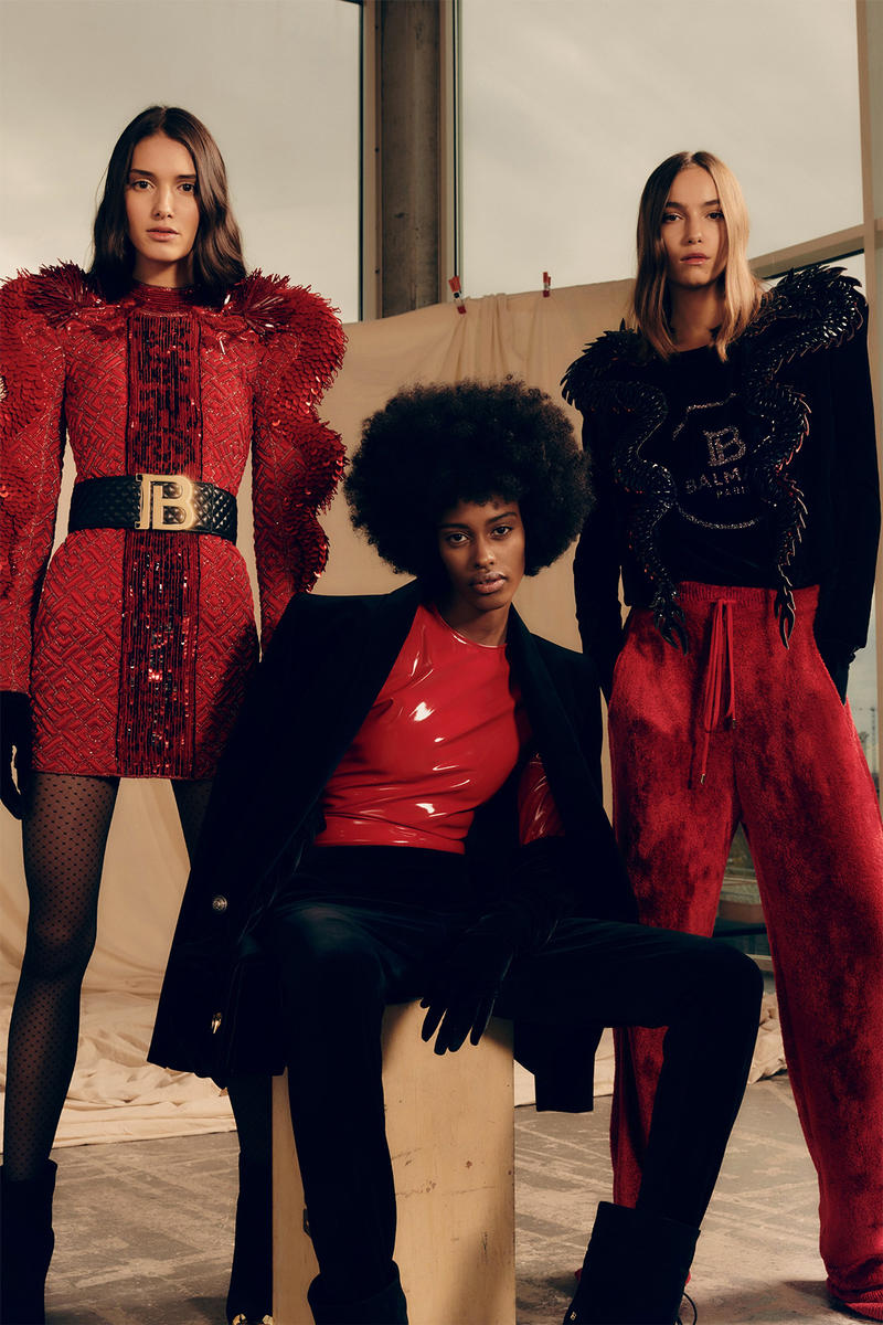balmain new logo pre-fall 2019 collection olivier rousteing
