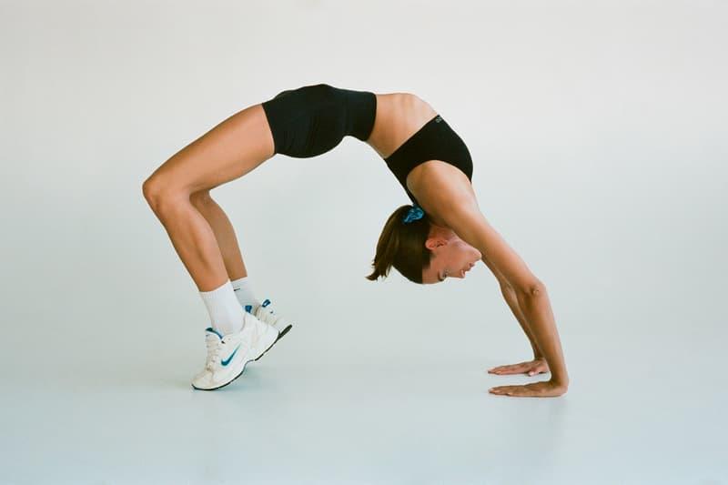 Bandier Campaign Emily Oberg Bra Shorts Black Nike Sneakers White