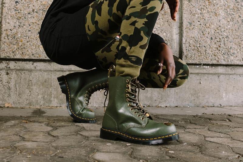 BAPE x Dr. Martens 1490 Boot Green
