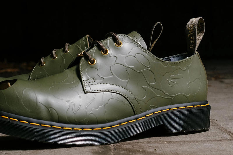 BAPE x Dr. Martens 1490 Petri Shoe Green