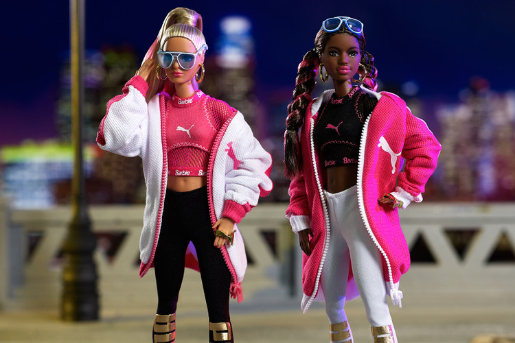 Barbie x PUMA Unveil an Exclusive Doll Set for the Suede Sneaker 50th  Anniversary 52bbd1fef