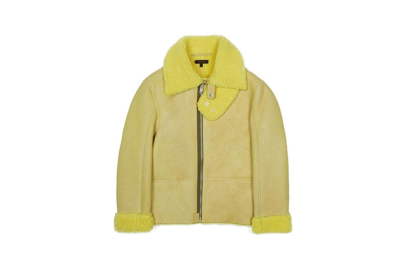 Shearling Flight Coat Yellow