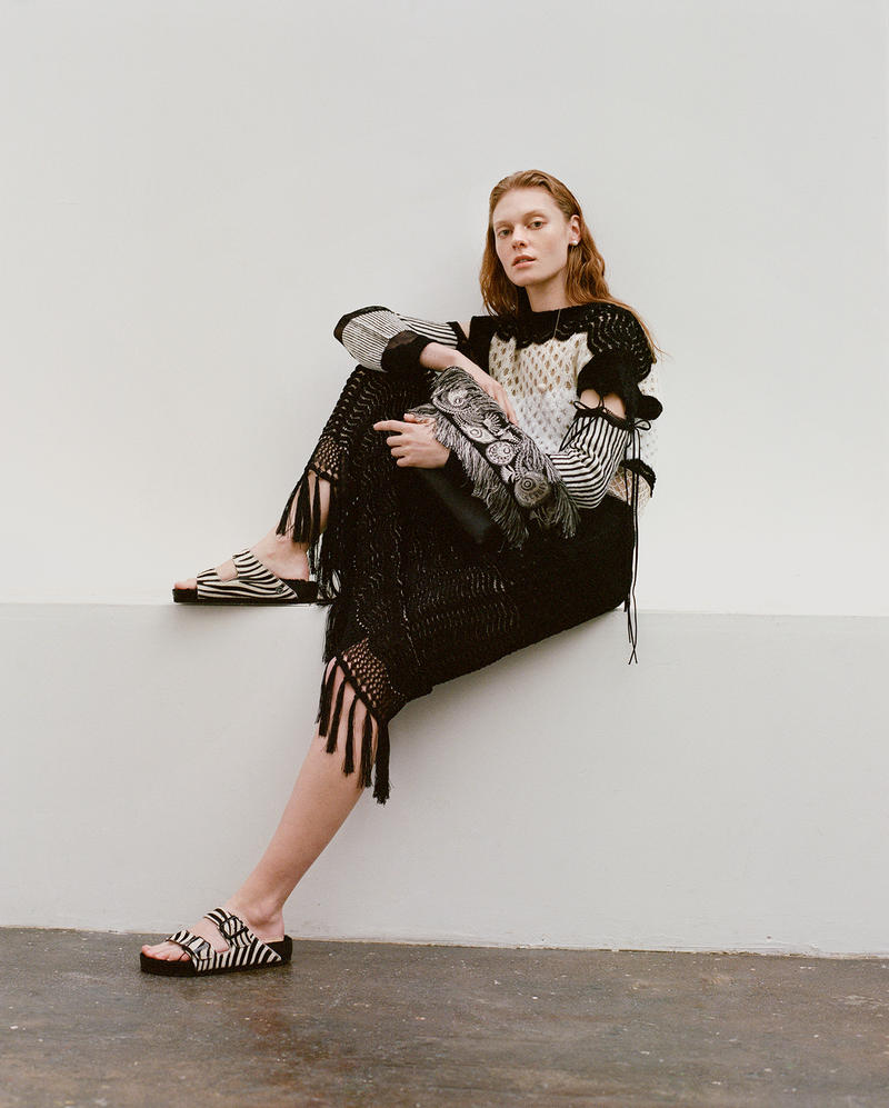 Birkenstock Opening Ceremony Arizona Boston Sandals Collaboration Zebra White Black Holiday 2018 Model Lookbook Editorial