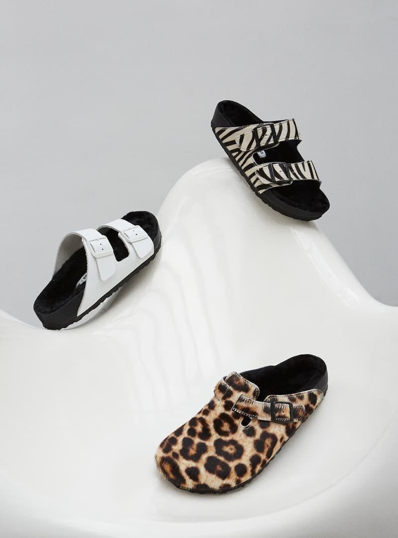 Birkenstock Opening Ceremony Arizona Boston Sandals Collaboration Leopard Print Zebra White Black Holiday 2018
