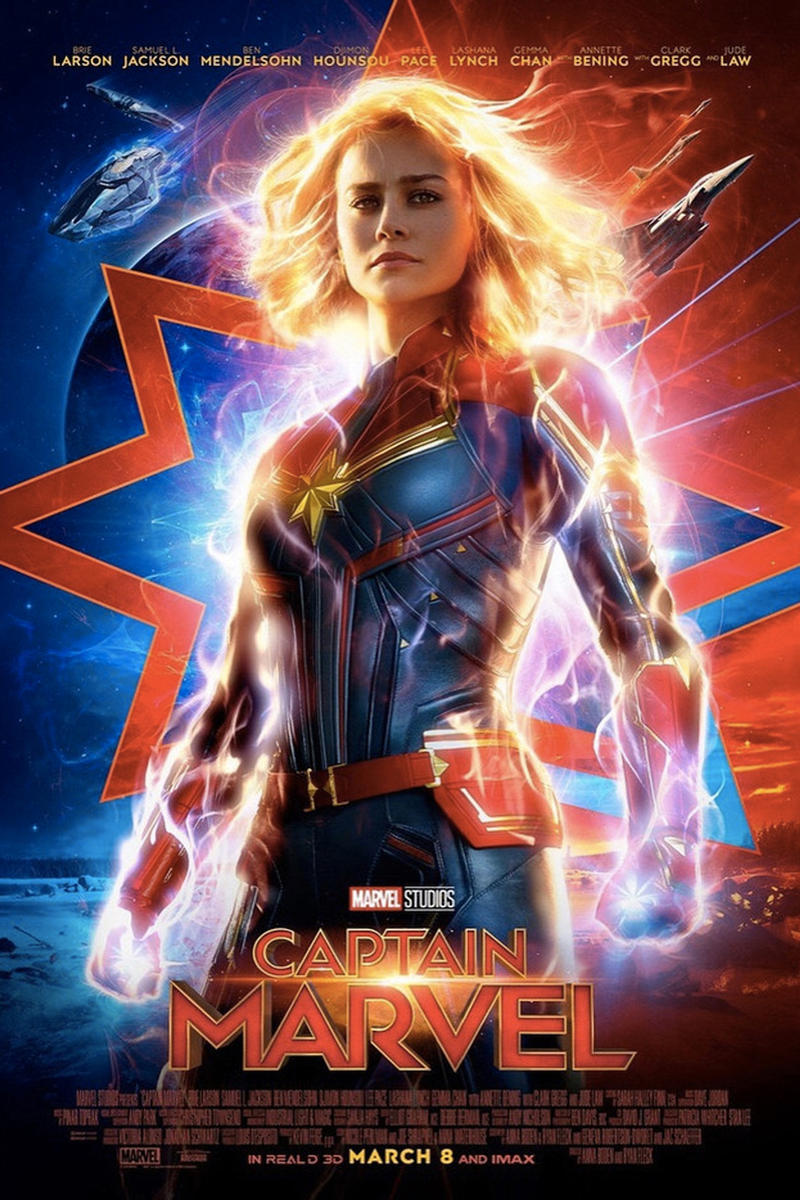 "Brie Larson in First ""Captain Marvel"" Trailer Video Teaser Movie"