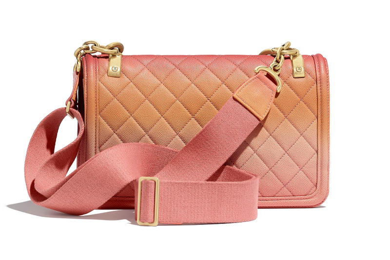 Chanel Living Coral Pink Ombré Gradient Quilted Flap Bag