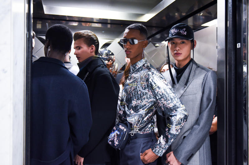 dior men's homme prefall 2019 show collection tokyo backstage behind the scenes yoon ahn ambush matthew williams alyx kim jones hajime sorayama