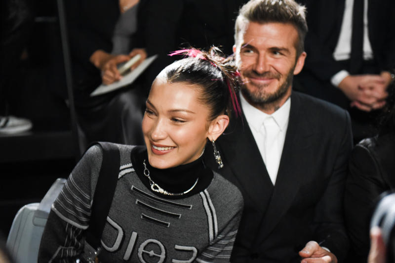 front row dior homme men's pre-fall 2019 yoon ahn matthew williams alyx bella hadid david beckham takashi murakami sorayama