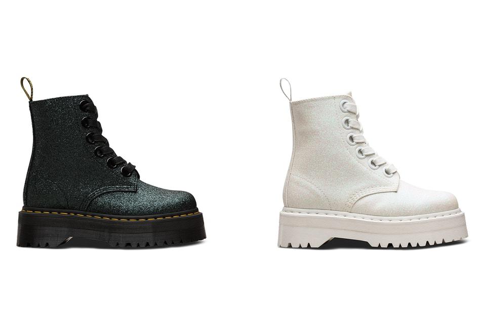 7d1cc126d Dr. Martens Platform Glitter Molly Boots | HYPEBAE