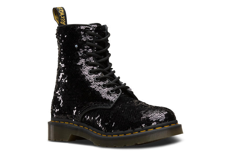 Dr. Martens Sequin Iridescent 1460 Boots 1461 Shoes Satchel Bags Mini Backpack