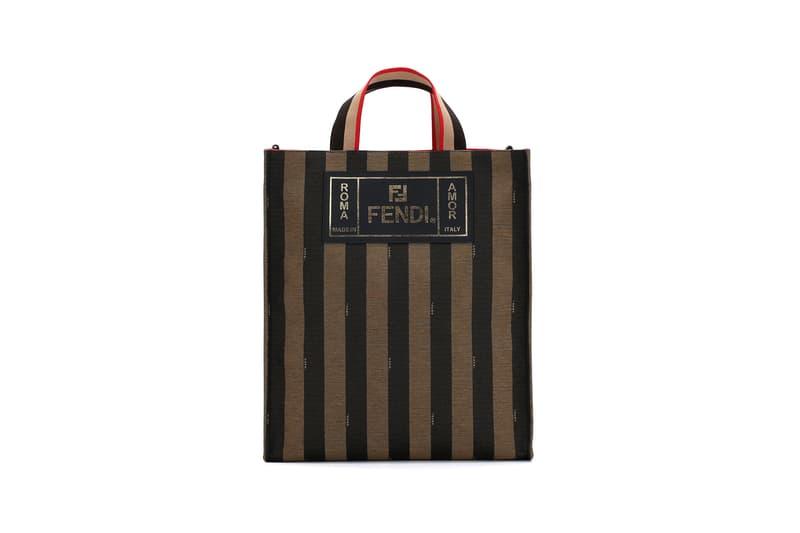 Fendi Mon Tresor Pequin Tote Bag Black Brown