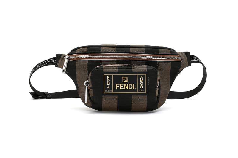 Fendi Mon Tresor Pequin Belt Bag Black Brown