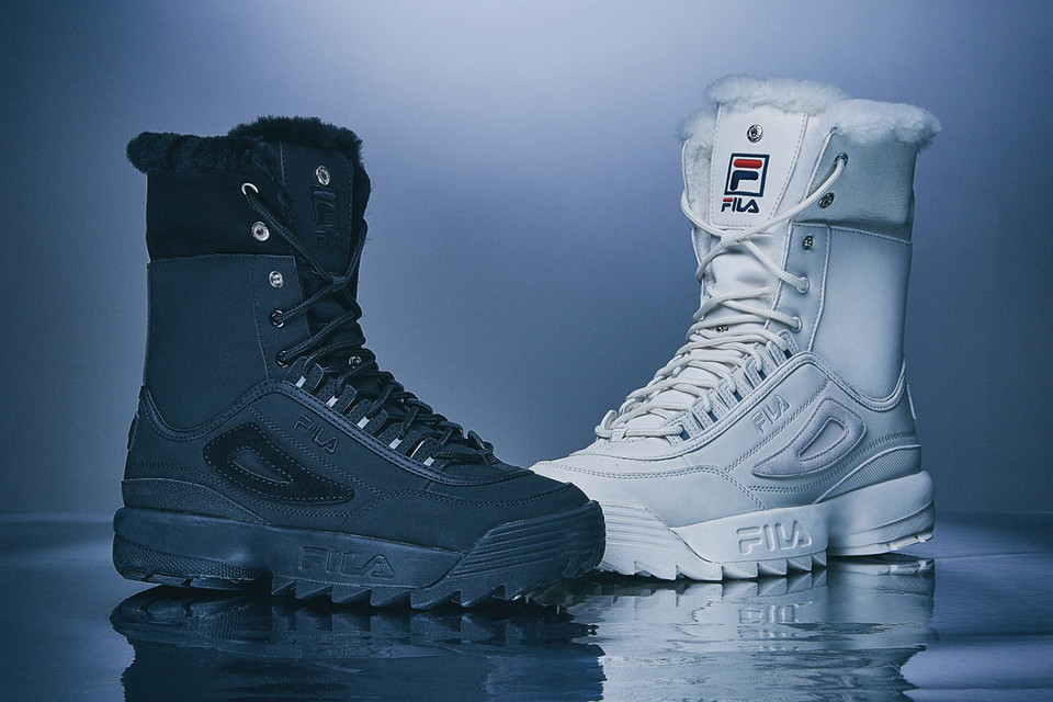 9f7b65717 FILA Disruptor 2 Sneaker Boots Black & Beige White   HYPEBAE
