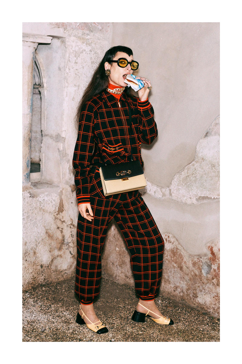 Gucci Pre-Fall 2019 Collection Lookbook Jacket Pants Red Black