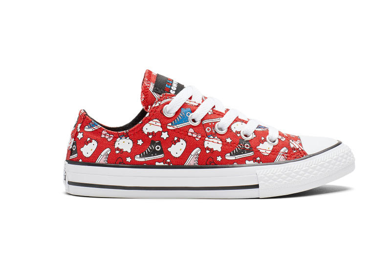 Converse x Hello Kitty Collaboration One Star Chuck Taylor Sneaker Shoe Print Graphic Cute