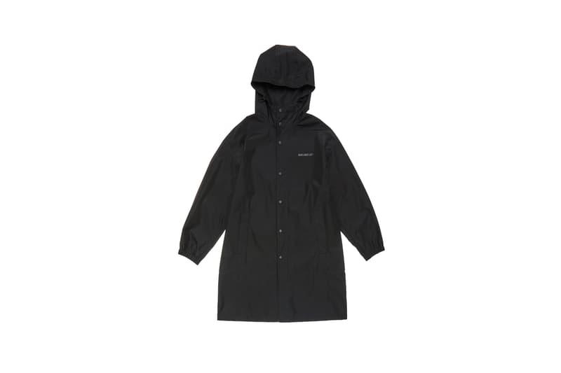 Parley x Helmut Lang Hooded Raincoat Black