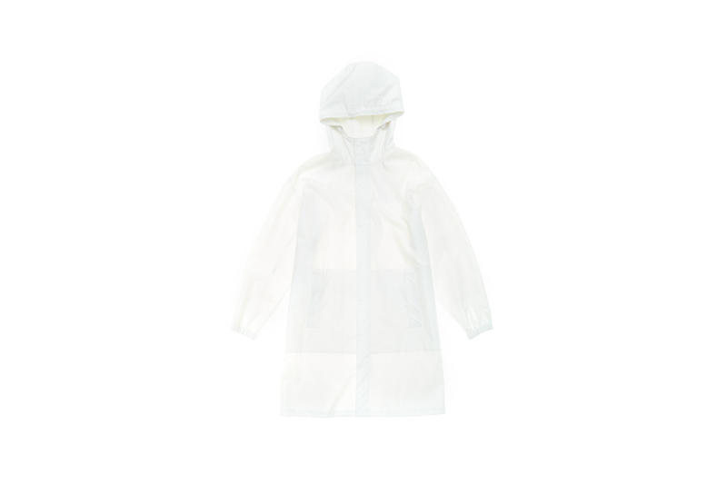 Parley x Helmut Lang Hooded Raincoat White