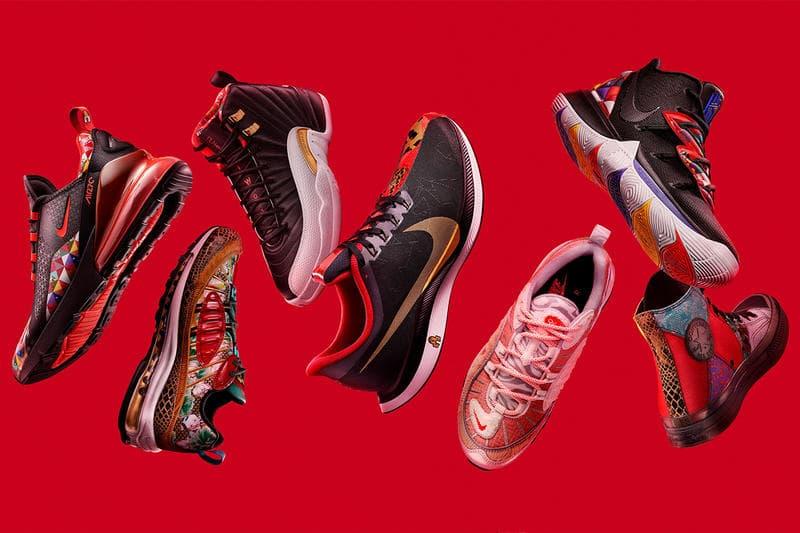 Nike Chinese New Year 2019 Air Max 1 Air Force Chuck Taylor All Star 98 VaporMax Jordan 12