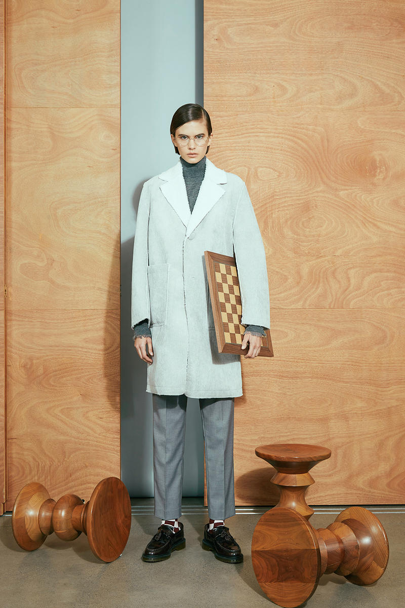 karen walker pre-fall 2019 lookbook suits tweed cardigan wool chess