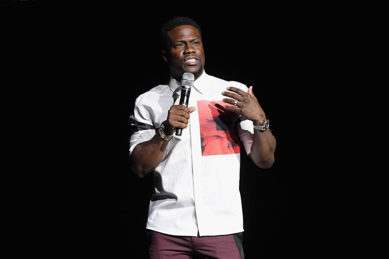 Kevin Hart CinemaCon Top White Pants Maroon