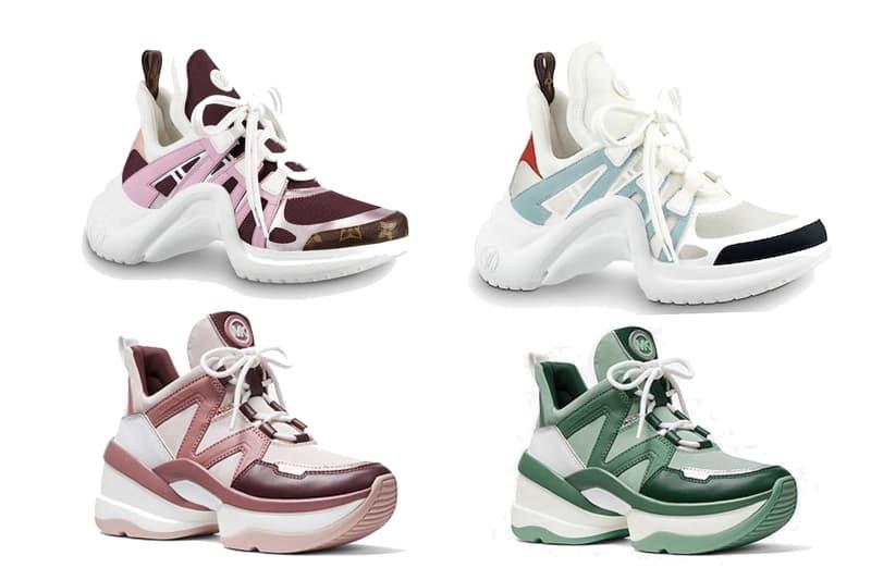 Diet Prada Calls Out Michael Kors' Latest Shoe Sneaker Louis Vuitton Archlight Copy