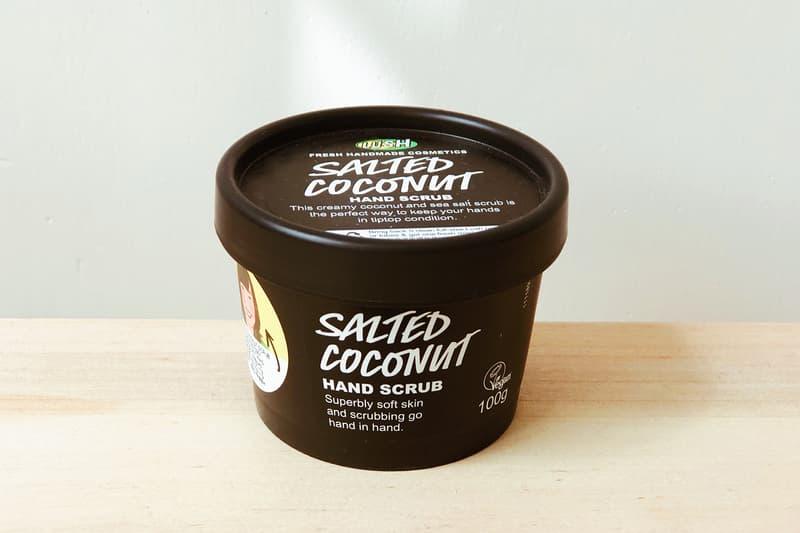 lush cosmetics hand scrub dry skin skincare salt coconut