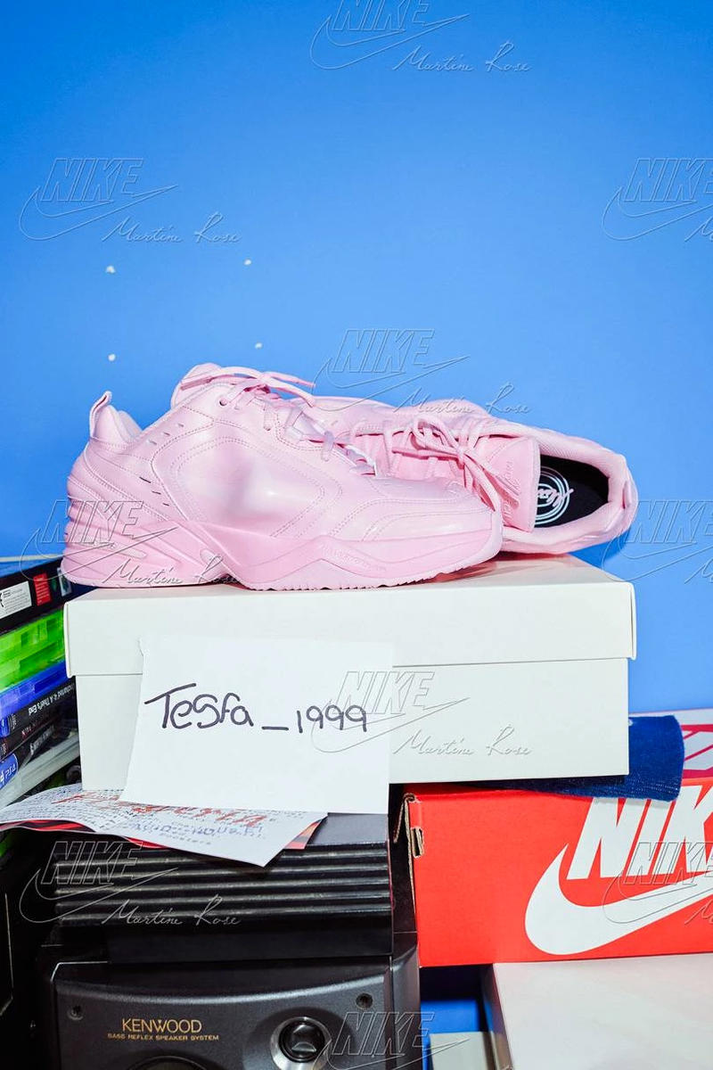 3118c844f76 Martine Rose s Nike Collab Includes a Millennial Pink Air Monarch Rework