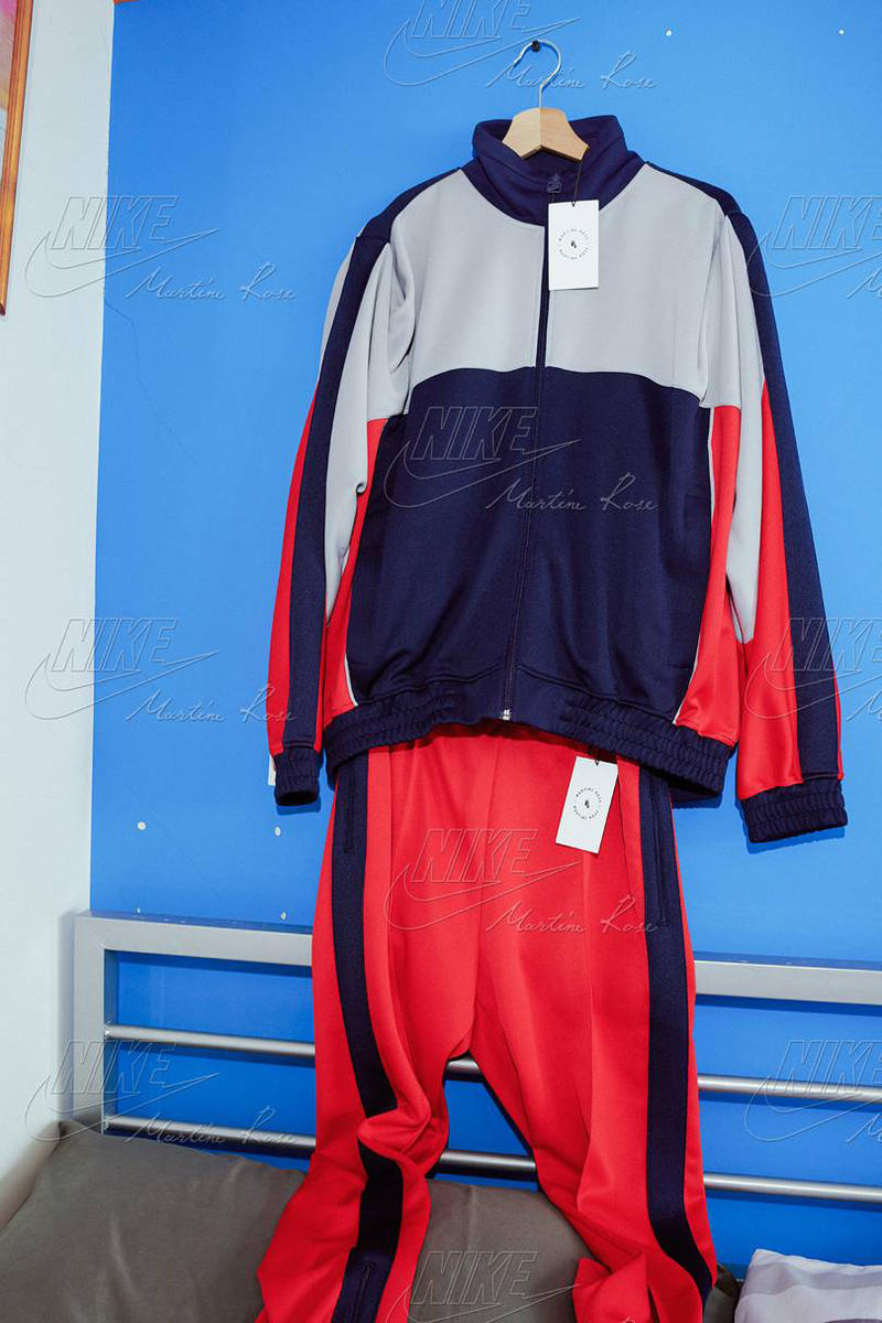Martine Rose Nike Collaboration Craigslist Pink White Air Monarch Track Pants Jacket T-shirt