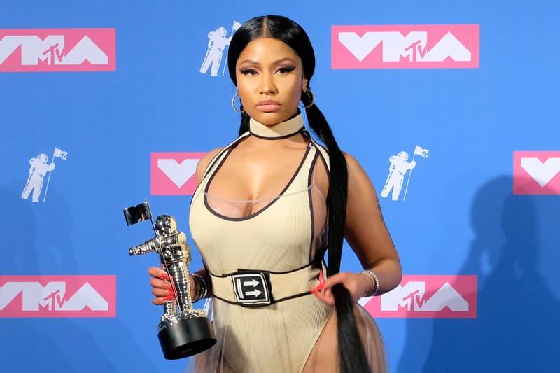 Nicki Minaj MTV Music Awards Off-White Dress Cream