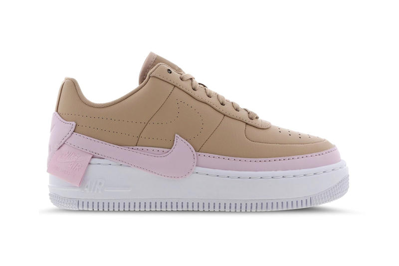 detailed look 1ce08 260f1 Nike Air Force 1 Jester XX Cream Mint Green Tan Brown Pastel Pink Womens  Sneakers Trainers